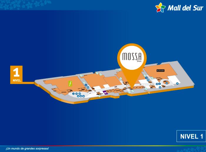 MOSSA SHOES - Mapa de Ubicación - Mall del Sur