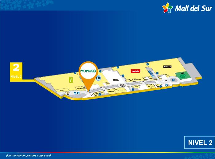 MUMUSO - Mapa de Ubicación - Mall del Sur