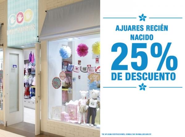 25% DCTO EN AJUARES RECIÉN NACIDOS - Mini Manitas - Mall del Sur