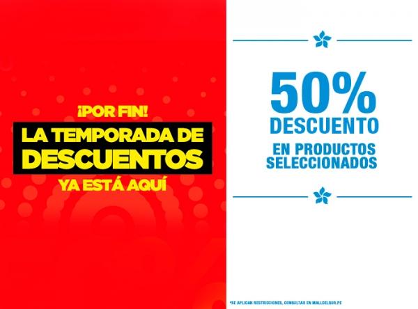 50% DCTO EN PRODUCTOS SELECCIONADOS Miniso - Mall del Sur