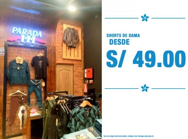 SHORTS DE DAMAS DESDE S/49. - Plaza Norte