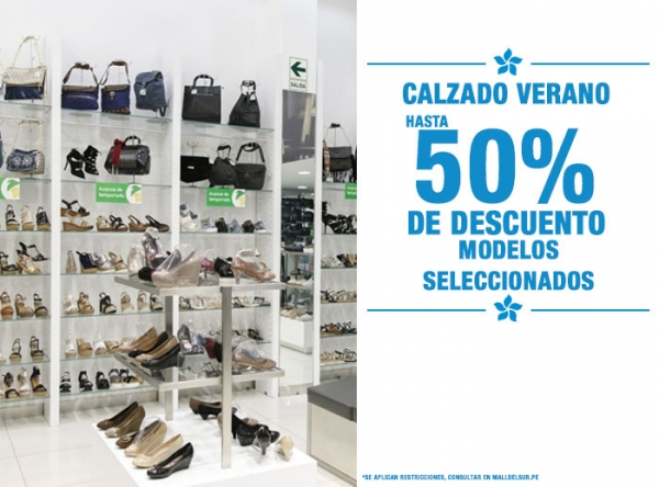HASTA 50% DCTO EN CALZADOS DE VERANO SELECCIONADOS - Plaza Norte