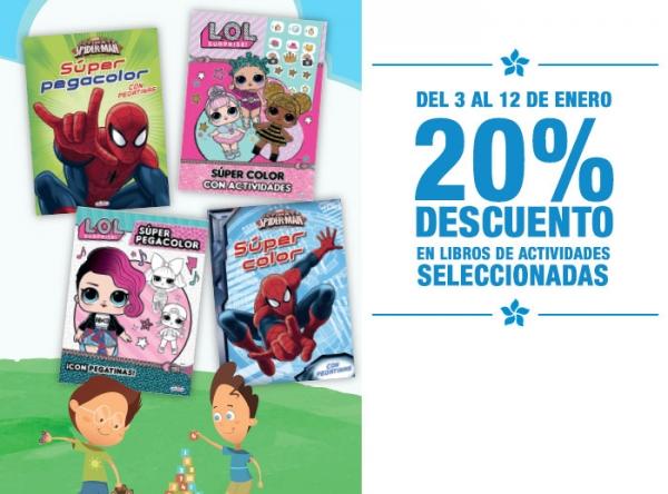 20% DCTO EN LIBROS DE ACTIVIDADES SELECCIONADOS - Plaza Norte