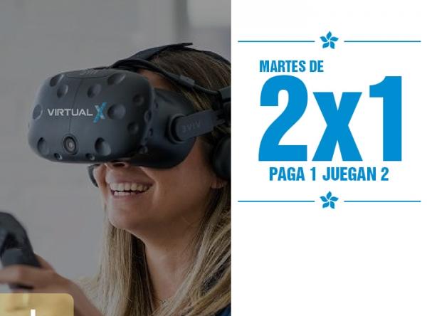 MARTES DE 2 X 1 EN VIRTUAL X Virtual X - Mall del Sur