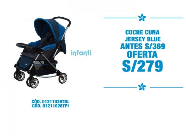 COCHE CUNA JERSEY BLUE A S/279 - Plaza Norte