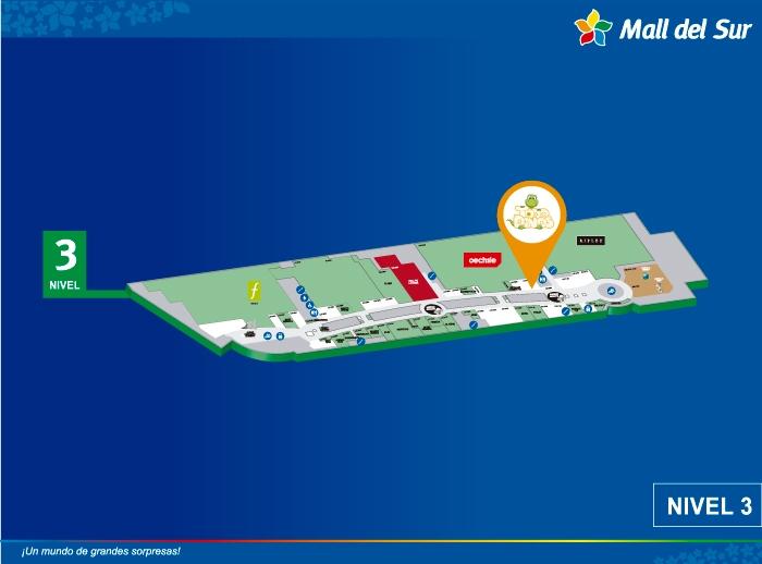 TODODINOS - Mapa de Ubicación - Mall del Sur
