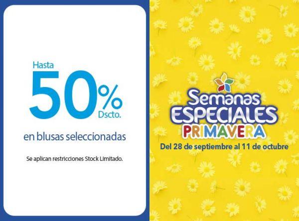 HASTA 50% DSCTO EN BLUSAS SELECCIONADAS  - Plaza Norte