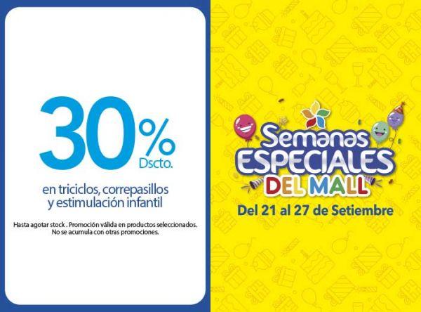 30% DSCCTO EN TRICICLOS, CORREPASILLOS Y ESTIMULACIÓN INFANTIL  - Baby Infanti - Mall del Sur