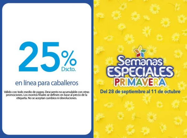 25% DSCTO EN LÍNEA PARA CABALLEROS Belle Accesorios - Mall del Sur