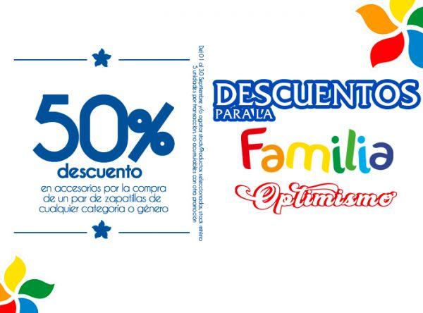 50% DSCTO EN ACCESORIOS POR LA COMPRA DE UN PAR DE ZAPATILLAS  City Sports - Mall del Sur