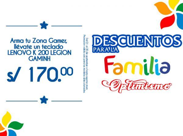 LLÉVATE UN TECLADO LENOVO K200 LEGION GAMING A S/.170.00. - COMPUUSA - Mall del Sur