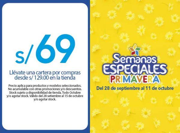 LLÉVATE UNA CARTERA A S/69 POR COMPRA DESDE S/129 - Plaza Norte