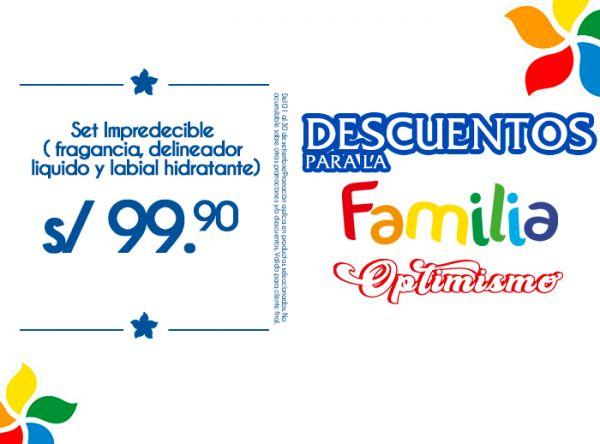 SET IMPREDCIBLE LIQUIDO Y LABIAL HIDRATANTE A S/99.90 ÉSIKA - Mall del Sur