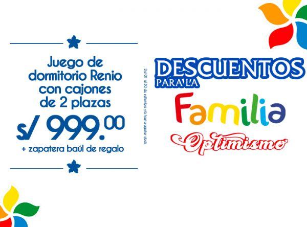 JUEGO DE DORMITORIO RENIO CON CAJONES DE 2 PLAZAS A S/999 - Forli - Mall del Sur