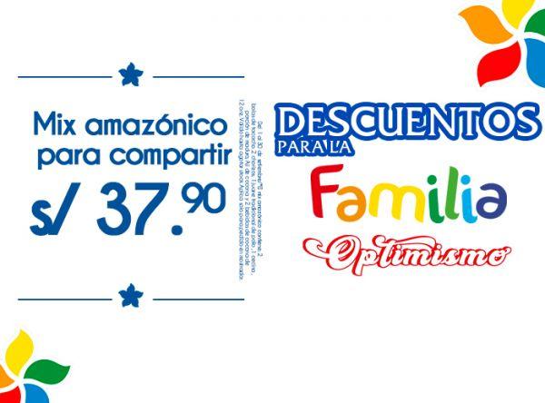 MIX AMAZÓNICO PARA COMPARTIR S/37.90 La Choza de la Anaconda - Mall del Sur