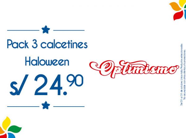 PACK 3 CALCETINES HALLOWEEN A S/24.90 Lancaster - Mall del Sur
