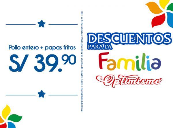 POLLO ENTERO + PAPAS FRITAS A S/39.90 - Norky's - Mall del Sur