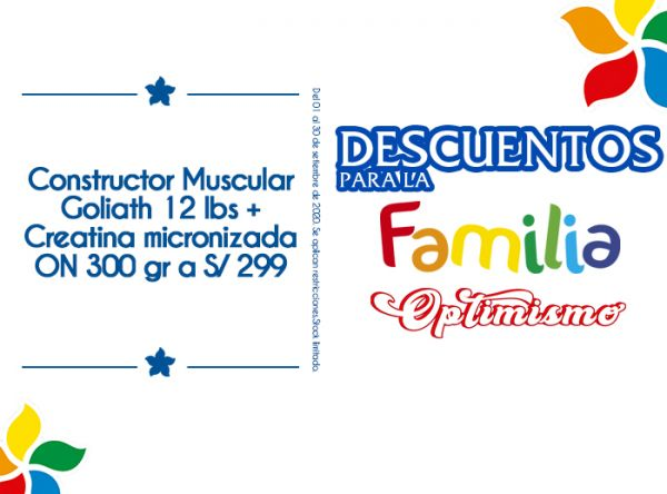 CONSTRUCTOR MUSCULAR GOLIATH 12 LDS + CREATINA A S/299 - Nutripoint - Mall del Sur