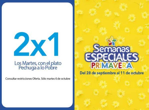 2X1 LOS MARTES CON EL PLATO PECHUGA A LO POBRE Otto Grill - Mall del Sur