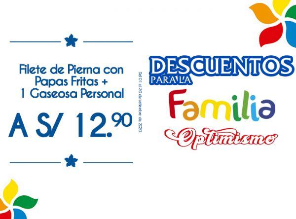 FILETE DE PIERNA CON PAPAS FRITAS + A GASEOSA PERSONAL A S/12.90 Otto Grill - Mall del Sur
