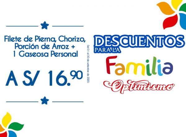 FILETE DE PIERNA, CHORIZO, PORCIÓN DE ARROZ + A GASEOSA A S/16.90 Otto Grill - Mall del Sur