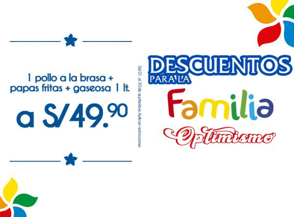 1 POLLO A LA BRASA + PAPAS FRITAS + GASEOSA 1LT A S/49.90 RUSTICA - Mall del Sur