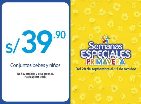 CONJUNTOS BEBES Y NIÑOS A S/39.90 - Plaza Norte