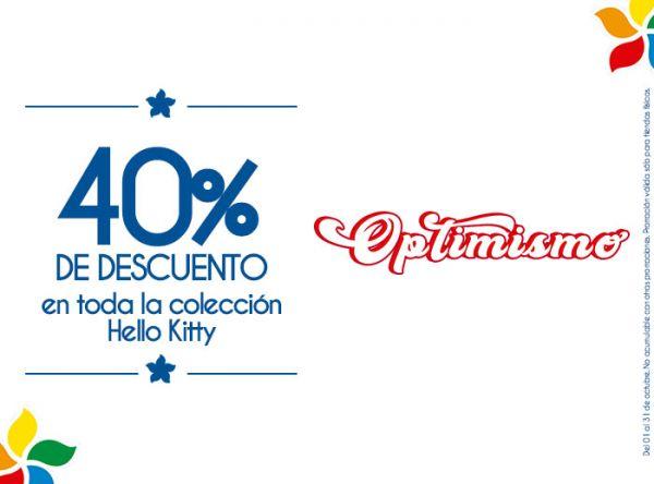 40% DSCTO EN TODA LA COLECCIÓN DE HELLO KITTY TIZZA - Mall del Sur