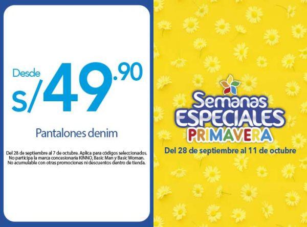 PANTALONES DENIM DESDE S/49.90 - Plaza Norte