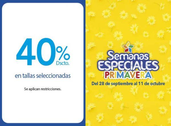 40% DSCTO EN TALLAS SELECCIONADAS  - Plaza Norte