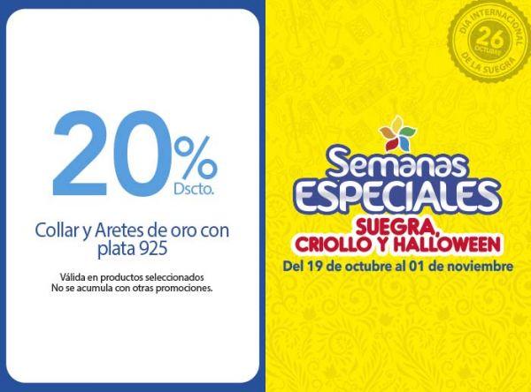 20% DSCCTO COLLAR Y ARETES DE ORO CON PLATA 925 BALIQ - Mall del Sur