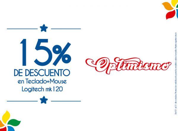 15% DSCTO EN TECLADO + MOUSE LOGITECH MK120 COMPUUSA - Mall del Sur