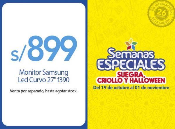 "MONITOR SAMSUNG  LED CURVO 27"" F2390 A S/899 COMPUUSA - Mall del Sur"