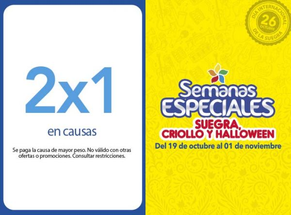 2X1 EN CAUSAS  Don Buffet - Mall del Sur