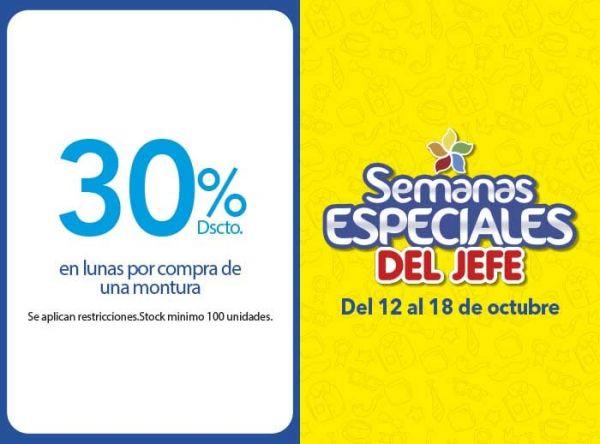 30% DSCTO EN LUNAS POR COMPRA DE UNA MONTURA  - Plaza Norte