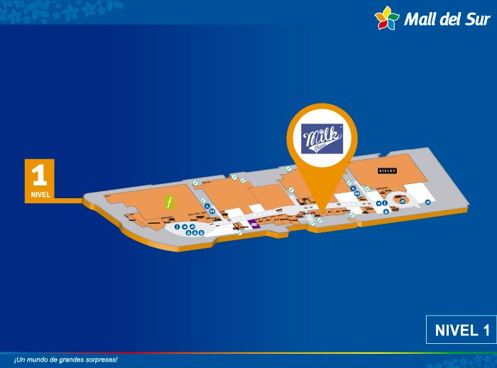 MILK BLUES - Mapa de Ubicación - Mall del Sur