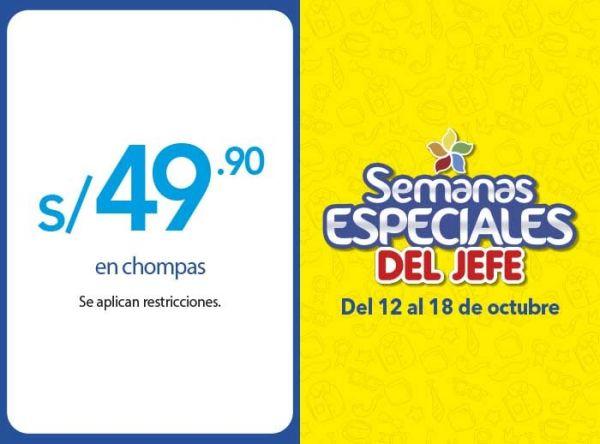 S/49.90 EN CHOMPAS - Plaza Norte