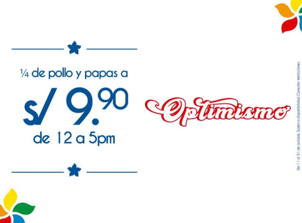 1/4 DE POLLO Y PAPAS A S/9.90 DE 12AM A 5PM Norky's - Mall del Sur