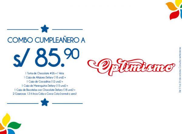 COMBO CUMPLEAÑERO A S/85.90 PANISTERIA - Mall del Sur