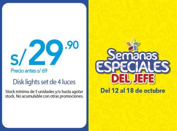 DISK LIGTH SET DE 4 LUCES A S/29.90 - Plaza Norte