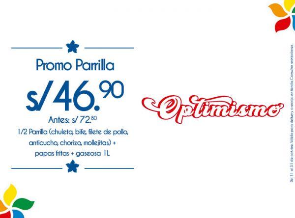 PROMO PARRILLA A S/46.90 RUSTICA - Mall del Sur