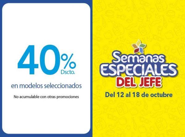40% DSCTO EN MODELOS SELECCIONADOS  - Plaza Norte