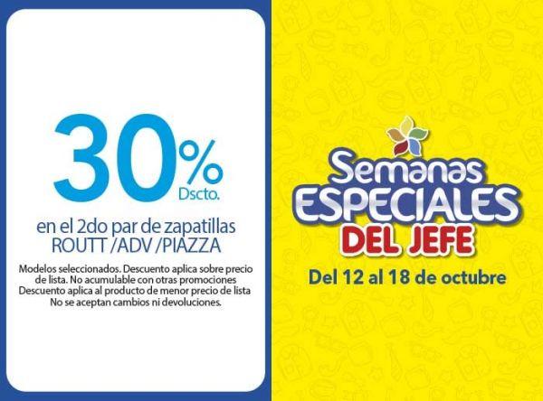 30% DSCTO EN PAR DE ZAPATILLAS ROUTT/ADV/PIAZZA - Plaza Norte