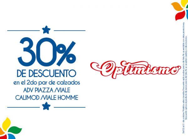 30% DSCTO EN EL 2DO PAR DE CALZADOS ADV PIAZZA/VIALE/CALIMOD/VIALE HOMME Viale - Mall del Sur