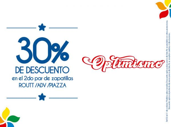30% DSCTO EN EL 2DO PAR DE ZAPATILLAS ROUTT/ADV/PIAZZA Viale - Mall del Sur