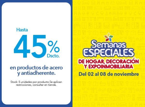 HASTA 45% DSCTO EN PRODUCTOS DE ACERO Y ANTIADHERENTE - Plaza Norte