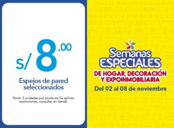 ESPEJOS DE PARED SELECCIONADOS A S/8.00 - Plaza Norte