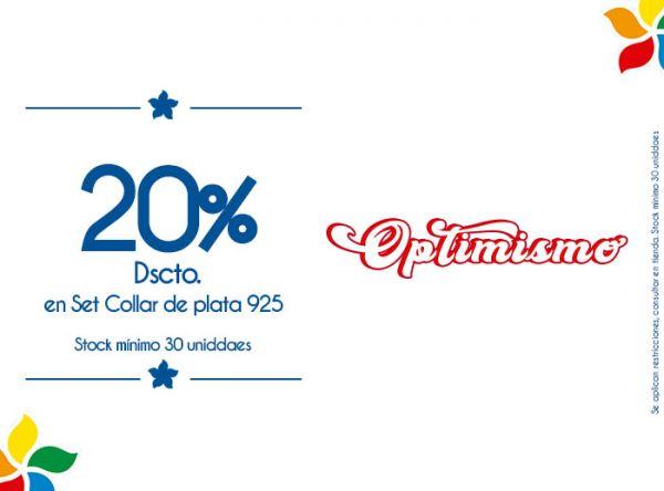 20% DSCTO. EN SET COLLAR DE PLATA 925. STOCK MÍNIMO 30 UNIDADES - Plaza Norte