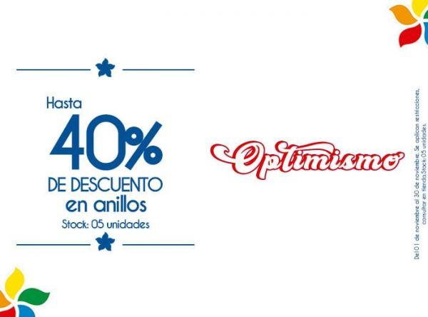 HASTA 40% DE DSCTO EN ANILLOS. STOCK: 05 UNIDADES - Plaza Norte