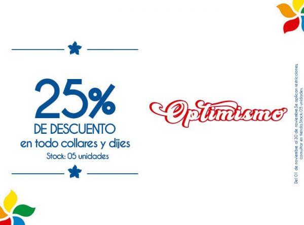 25% DE DSCTO EN TODO COLLARES Y DIJES. STOCK: 05 UNIDADES - Plaza Norte